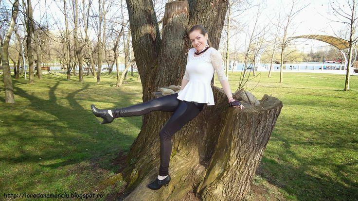 Lory's Blog: OOTD: Pantaloni de piele si bluza cu peplum