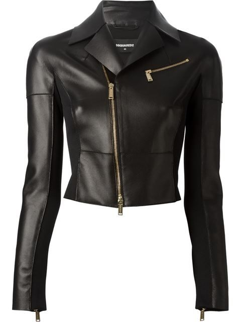 Shop DSQUARED2 fitted biker jacket in Divo from the world's best independent boutiques at farfetch.com. Over 1000 designers from 300 boutiques in one website.