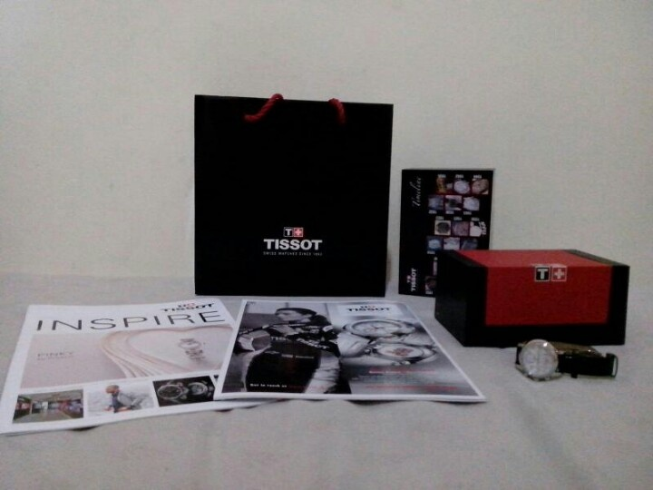 Birthday present, Tissot dressport watch with shell skin inside ! Love love love