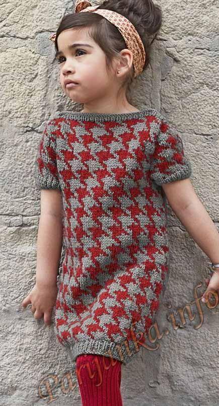 Платье с короткими рукавами (д) 35*168 Bergere de France №3723