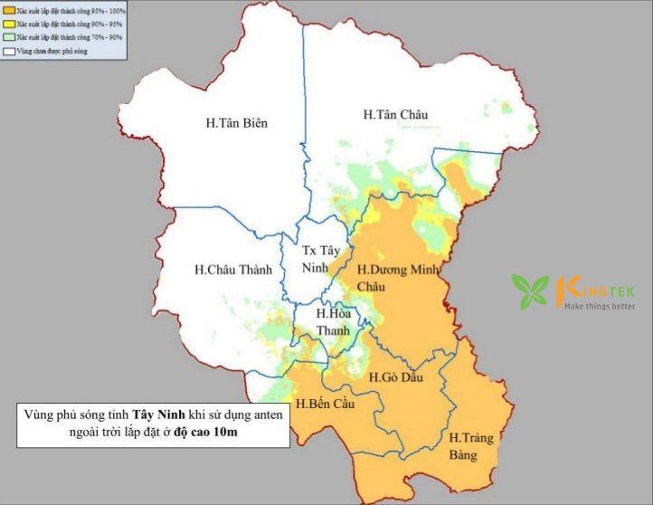 Bản đồ phủ sóng DVB T2 tại Tây Ninh 2 #Kingtek #đầu_thu_ftv #MobiTV