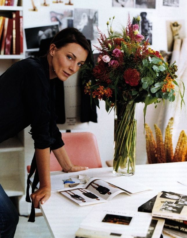Phoebe Philo at her London atelier. Photographed by Annie Leibovitz