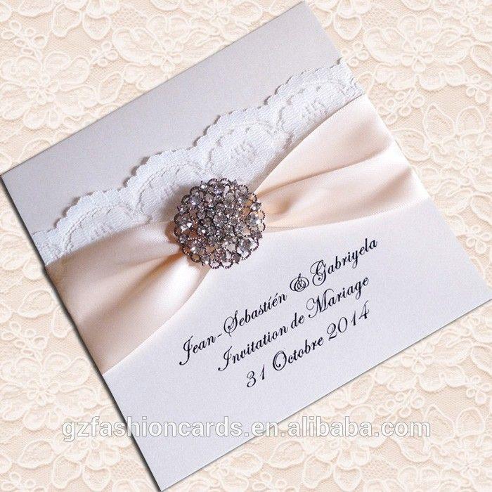 2015 hete verkoop elegante kant luxe bruiloft uitnodiging