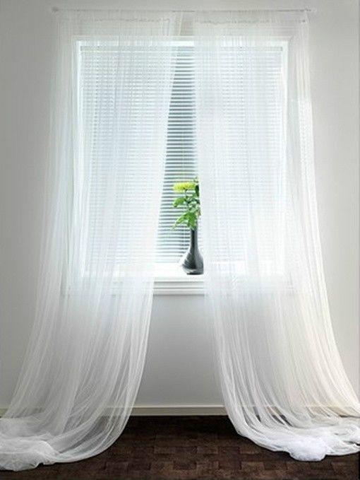"IKEA sheer curtains 10 panels white mesh net gauzy 98x110"" wedding party drapes #IKEA #Meshnetdrapes"