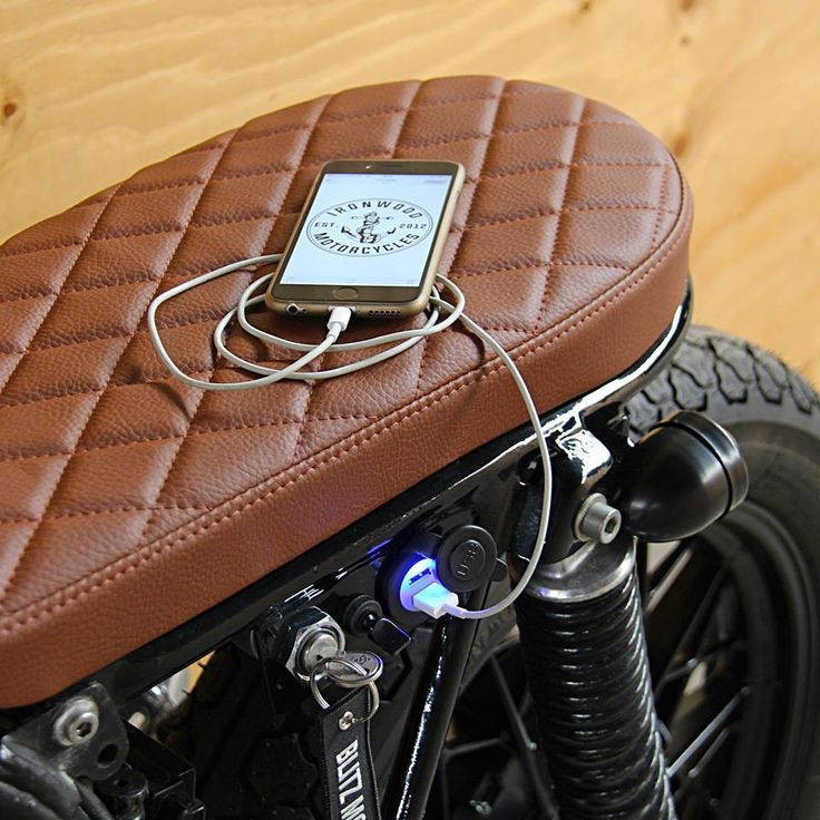 Ironwood Bikes customized USB system charger with critically good cafe racer se…