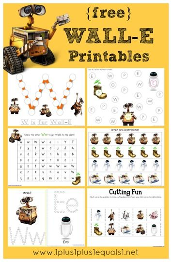 Download these free Wall-E Printables.
