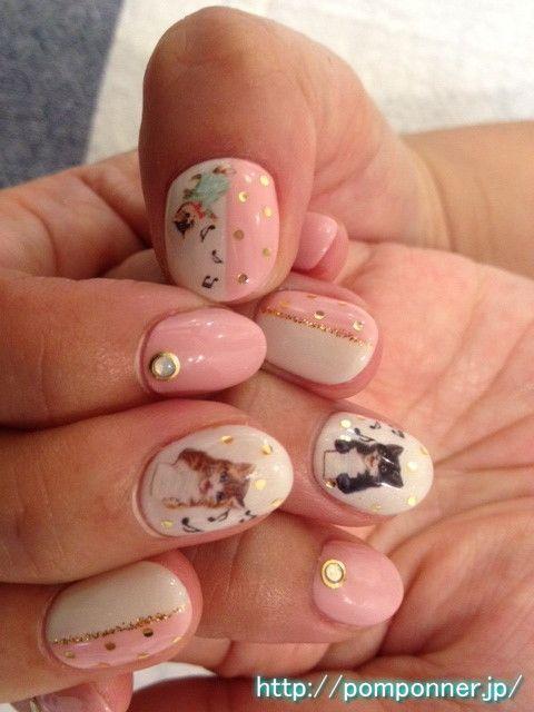 cute cat nail a lot of healing