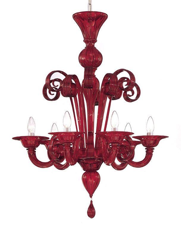 Red Murano Glass Chandelier Available In Several Diffe Sizes And Colors Ruby Modern