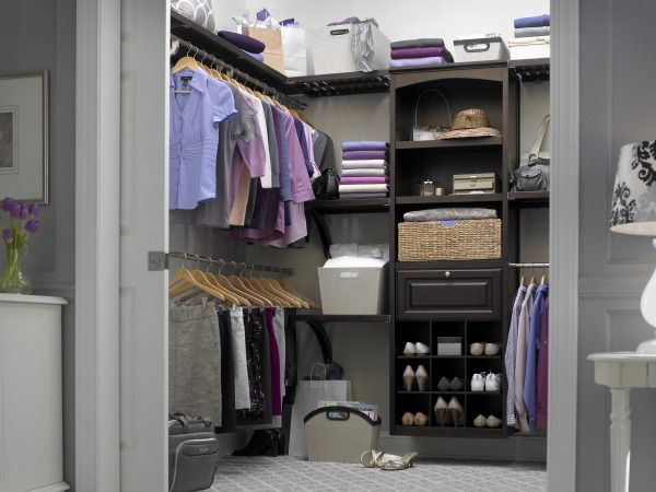 Java Real Wood Closet Organization Kit Allen Roth