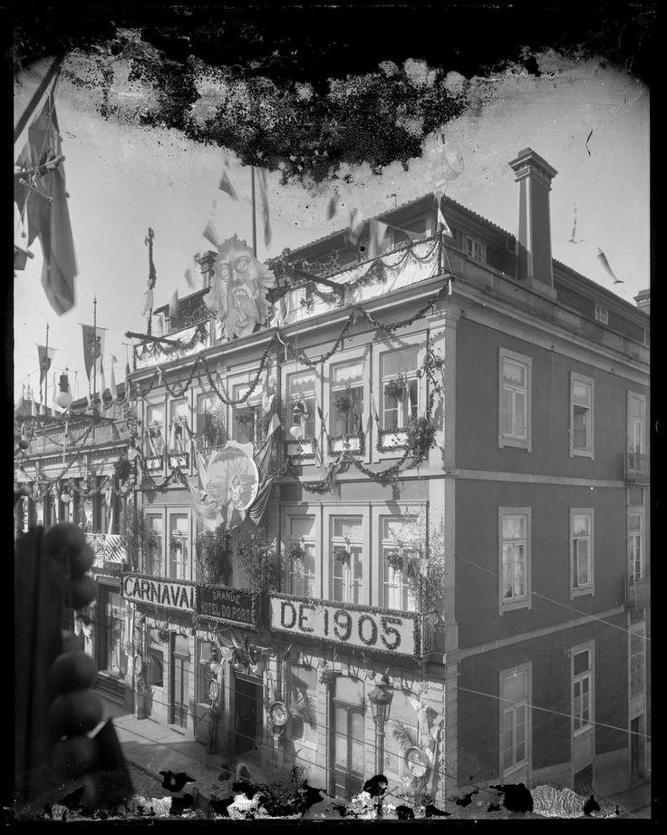 Fachada do GHP no Carnaval de 1905. Foto de Guedes de Oliveira | Arquivo digital da CMP