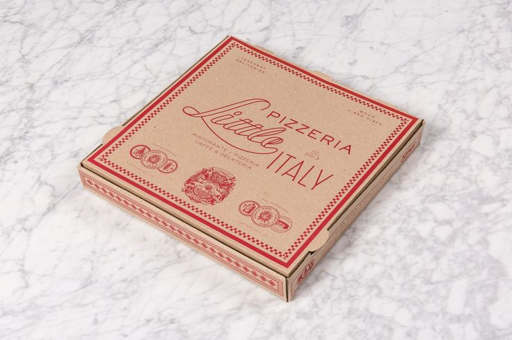Little Italy by Here Design, United Kingdom. #branding #packaging #pizza
