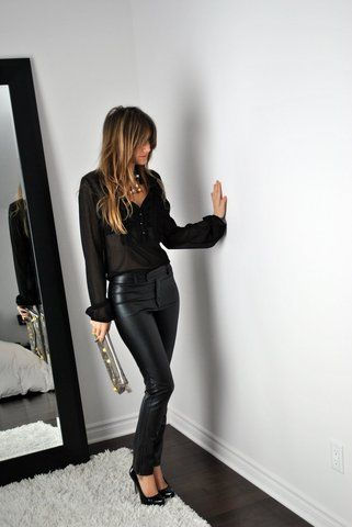 All Black and leather!!  Love!