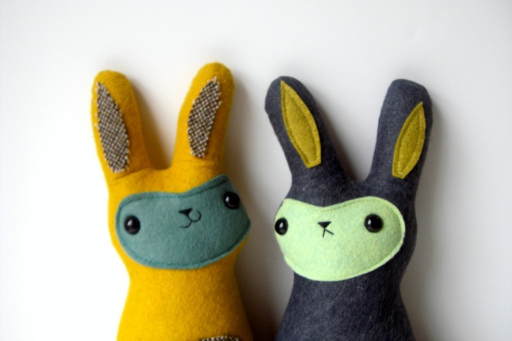 Sonny, The happy-go-lucky bunny - Made to order by Sleepy King. (left) $36