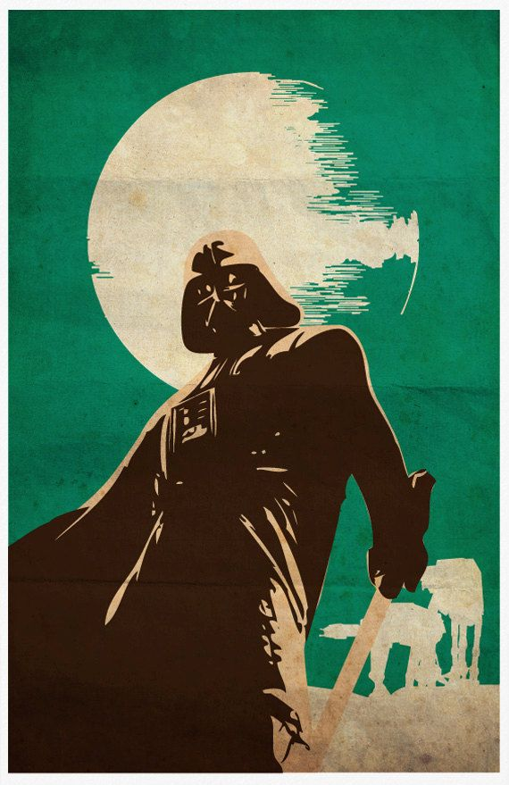 Star Wars Darth Vader Vintage 11X17 Poster Print by Posterinspired