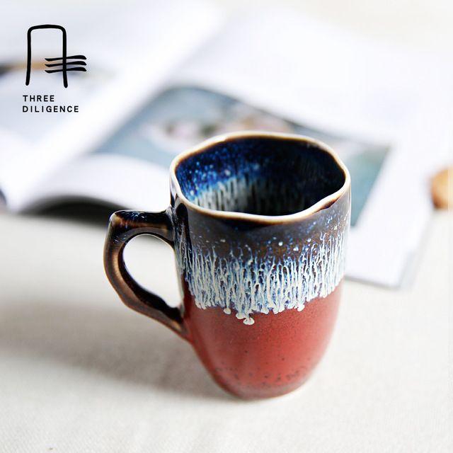 Jingdezhen Keramik Fambe Kleine Tasse Kaffeemilch Becher Tasse Home Office Ofen Ändern Glasierte Trinken Tasse