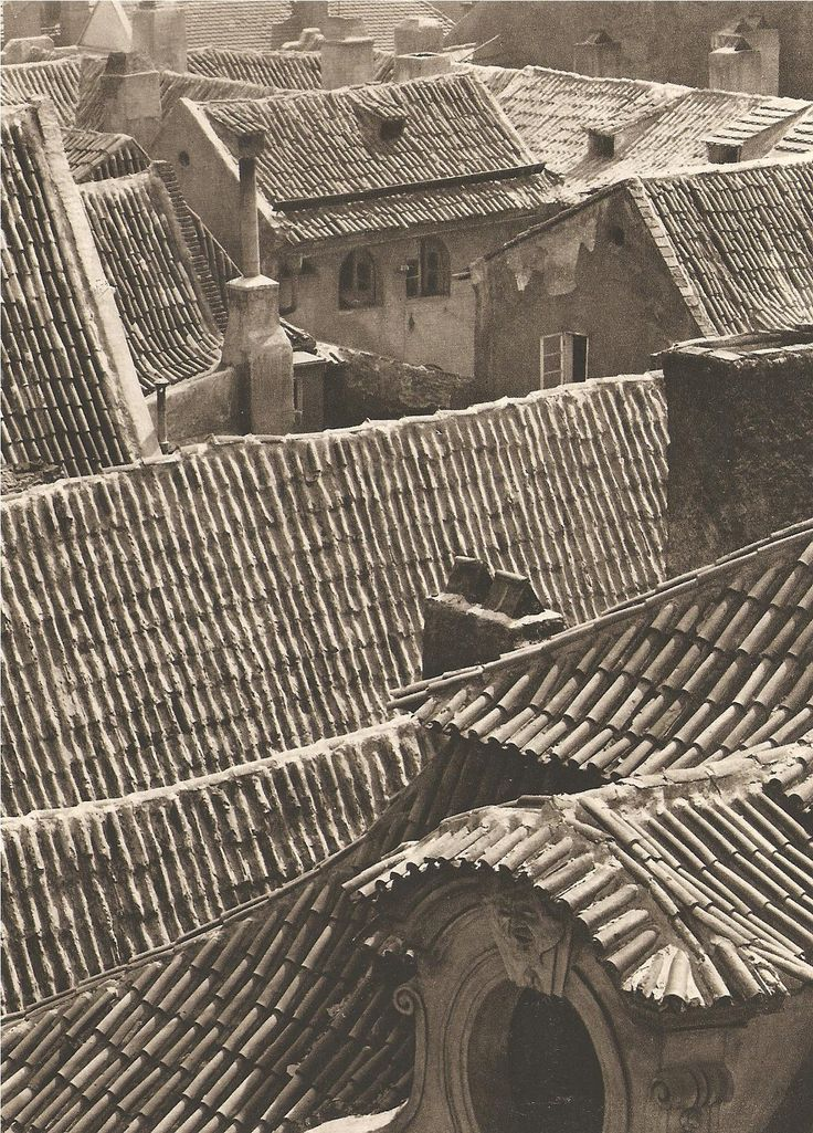 Photographer o the month: Jiri Jenicek, Prague. Rooftops of Mala Strana, 40's