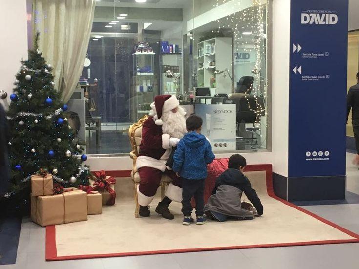 Papa Noel en el Centro Comercial David #Barcelona