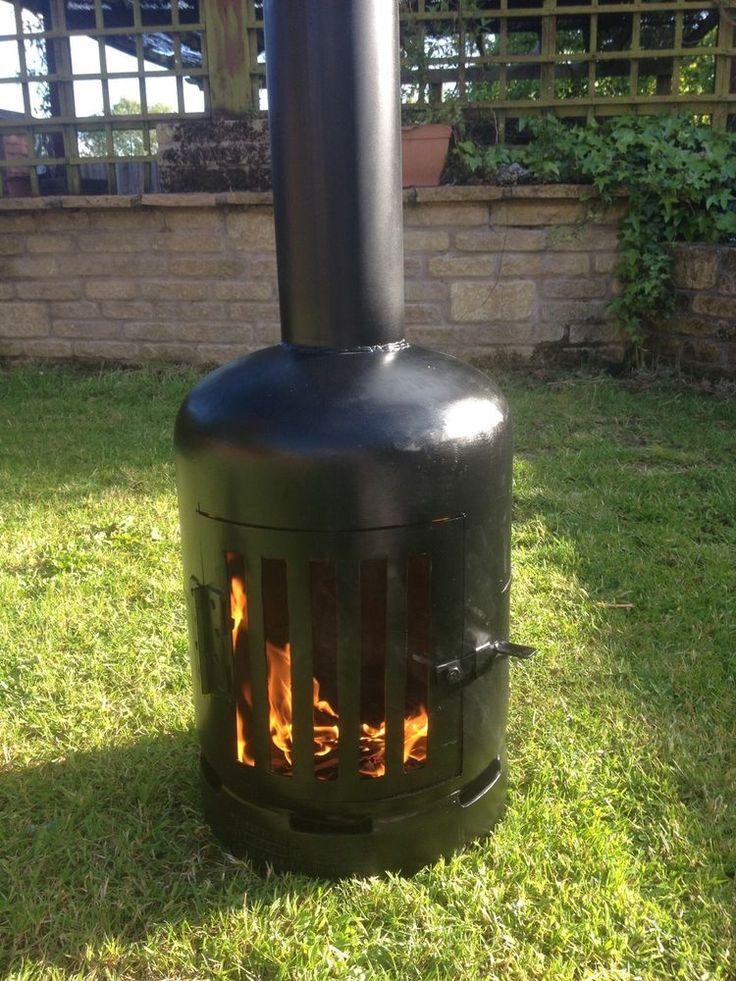 Gas Bottle Wood/ Log Burner / Chiminea/patio heater/ fire ...