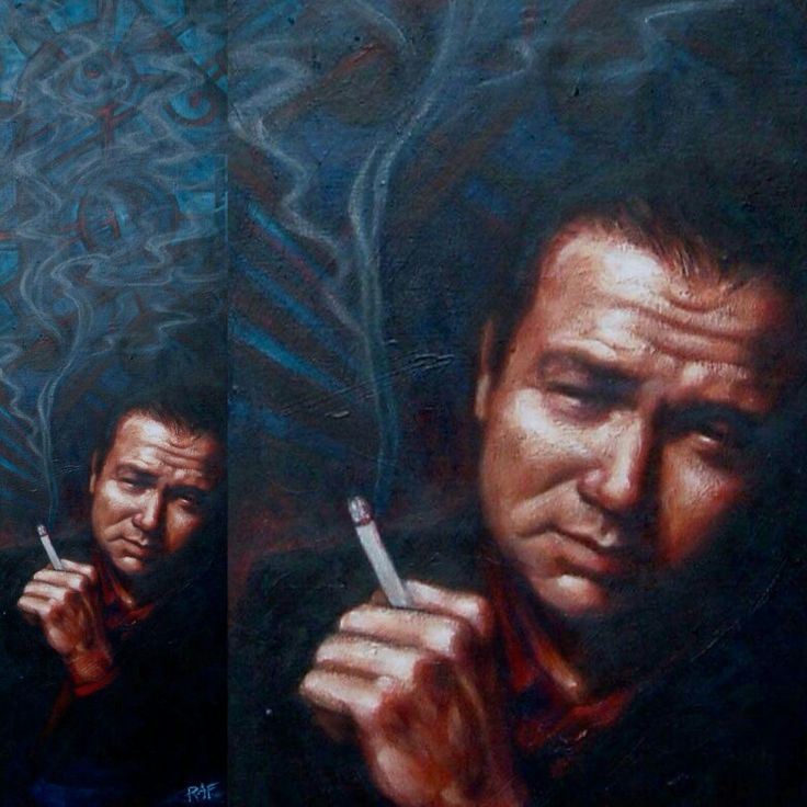 Bill Hicks. Oil on canvas. By Bob