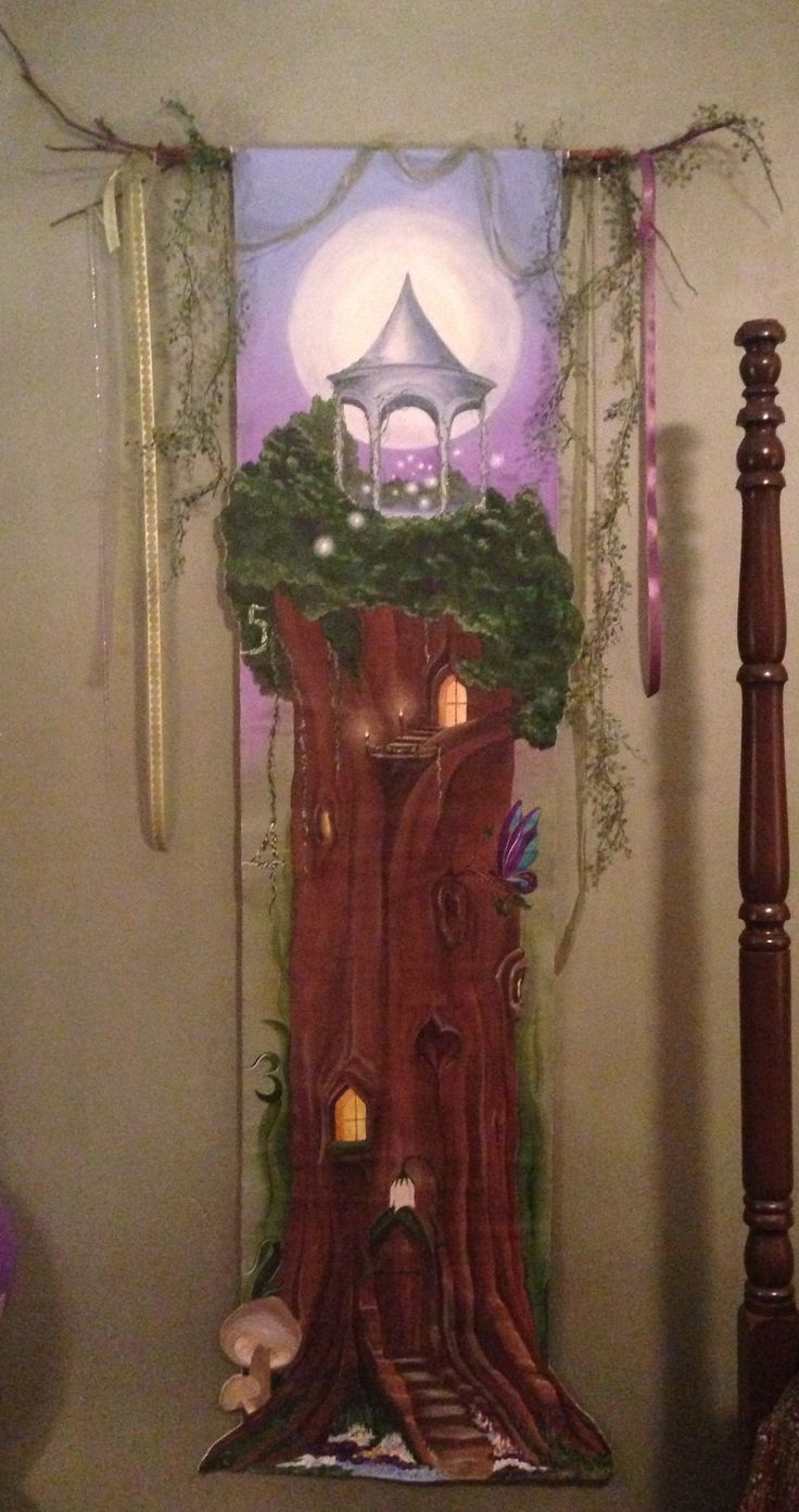 65 best fairy theme images on pinterest kid bedrooms fairy room taylor s growth chart hanging in her new fairy themed room painted on canvas and hung