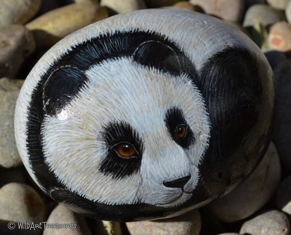 Hey, I found this really awesome Etsy listing at https://www.etsy.com/listing/225799868/rock-paintings-for-sale-panda