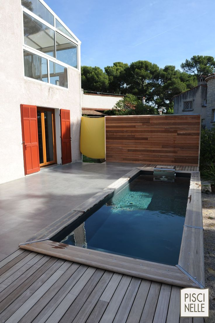 11 best images about piscine techniquement hors sol on pinterest more provence caves and Piscine hors sol design