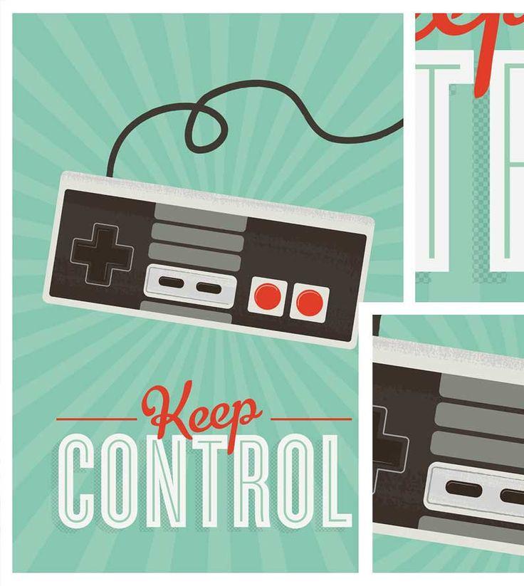 Retro poster Videogame Art