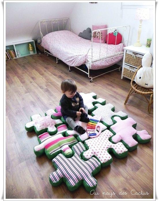 puzzle seklinde bebek oyun minderi