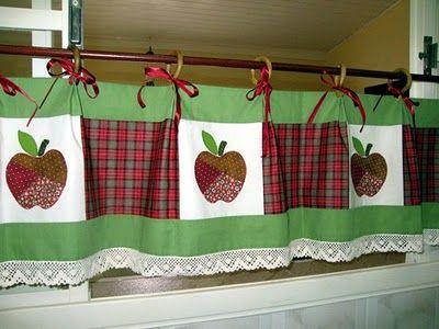Pessoal...nos caminhos da net, achei estas cortinas lindas e uma ótima ideia para se fazer. Já pensou sua cozinha com uma destas?Eu iria ado...