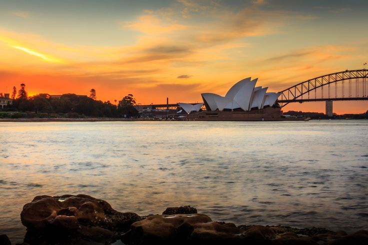 Opera House & Habour Bridge in Sunset by Danh Nguyen on 500px