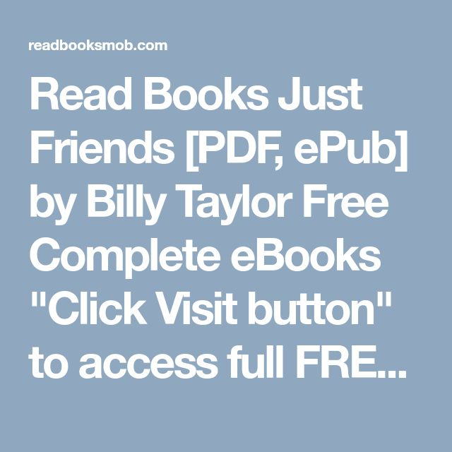 41 best my books images on pinterest read books just friends pdf epub by billy taylor free complete ebooks fandeluxe Image collections