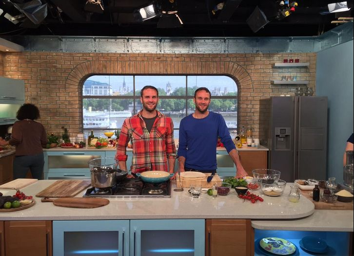 Great fun cooking on ITV This Morning Show in London - cooked our burrito & caramel chic bar - wahoo!!