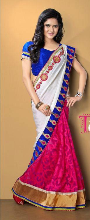 Rani Net BrassoStylish Embroidery Saree/Partywear/Designerwear #TS3035