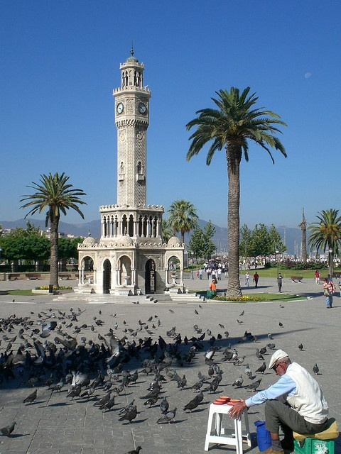 Izmir, Turkey. The clock tower.