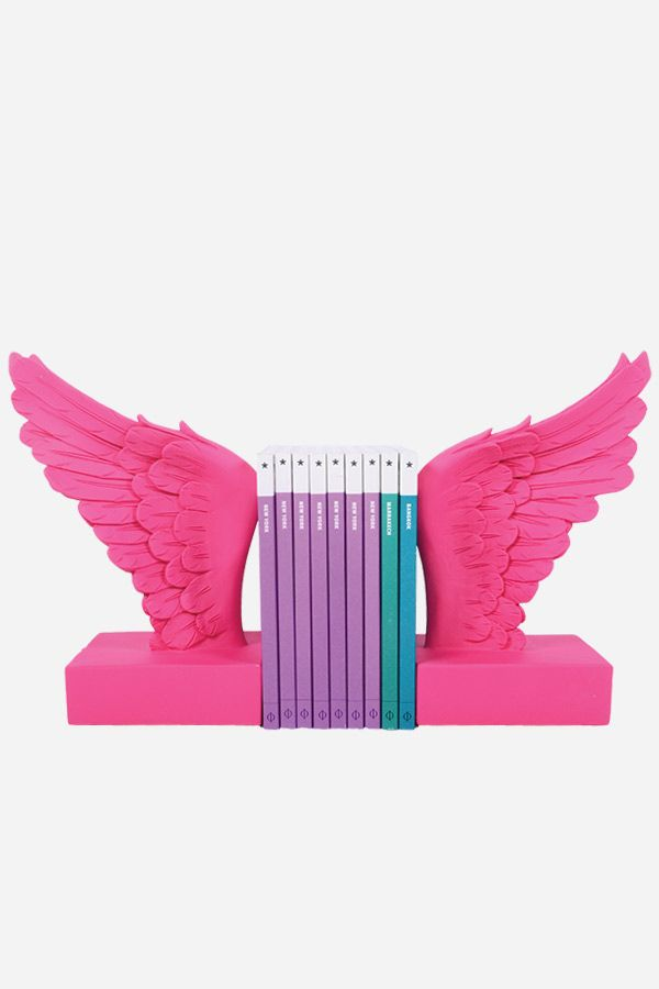 Bookends - Angel Wings, Pink
