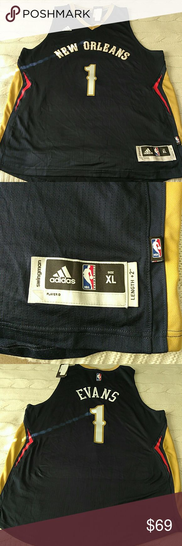 New Adidas NBA Store New Orleans #1 Evans Jersey New Adidas NBA Store New Orleans #1 Evans Swingman Jersey adidas Shirts
