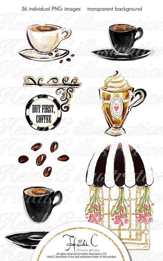 Fashion Coffee Clipart Espresso Cafe High Tea Clip