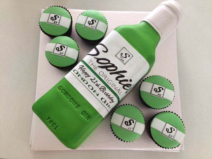 Gin bottle cake
