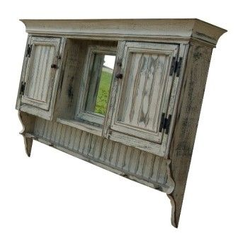 primitive furniture | Vanity Cabinet Large-Country Rustic Primitive Furniture