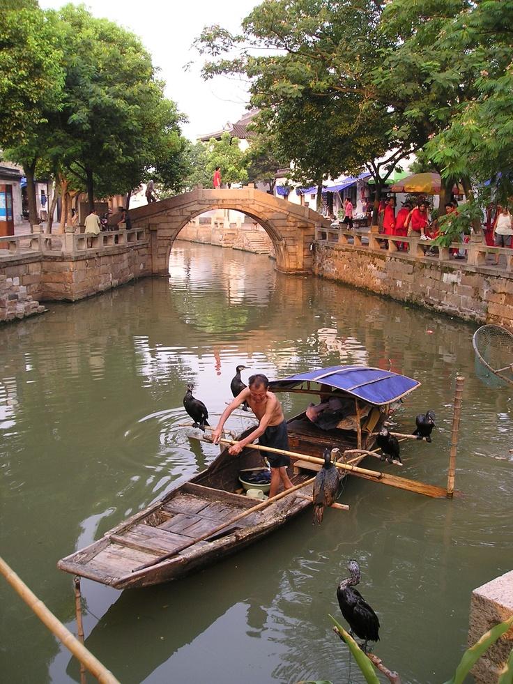 同里渔民,Fisherman, Tongli, China, July 2004