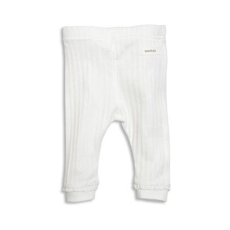 Ribbade leggings från Newbie med spetskantning och muddar i benslut.Newbie är en kollektion för de allra minsta, där våra bomullsplagg består av 100% ekologisk bomull. Klädern...