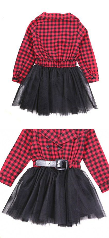 8f7cefcbd Little Kids Baby Girl Dress White and Black Plaid Tutu Skirt Party Princess  Formal Outfit For