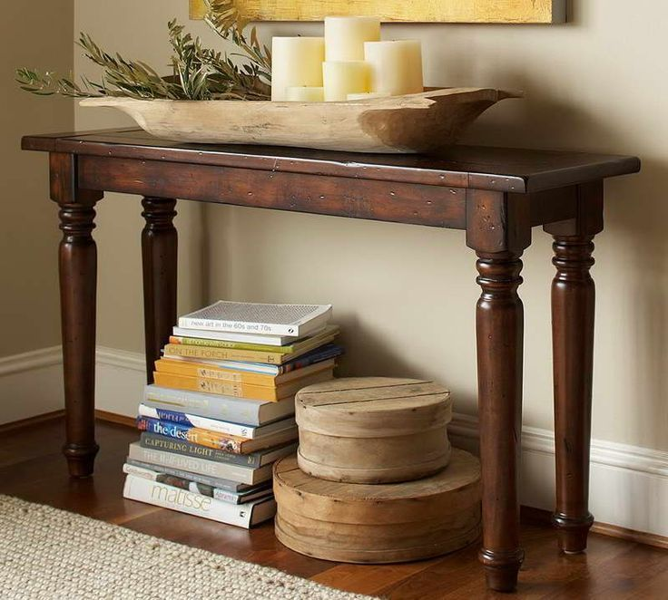 Entryway Tables | Entryway Console Tables Decorated With Candles