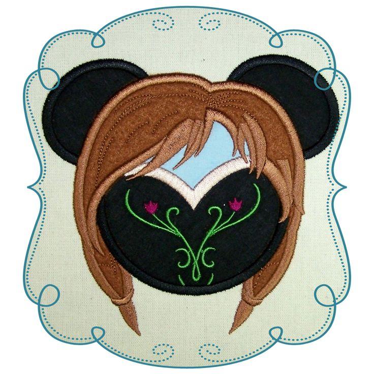 Disney Frozen Applique Machine Embroidery Design Pattern-INSTANT DOWNLOAD