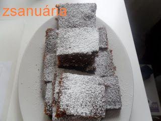 Zsanuária: Kakaós lekváros kevert sütemény.....az örök kedven...