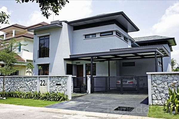 Modern bungalows modern contemporary bungalow house for Bungalow house exterior design