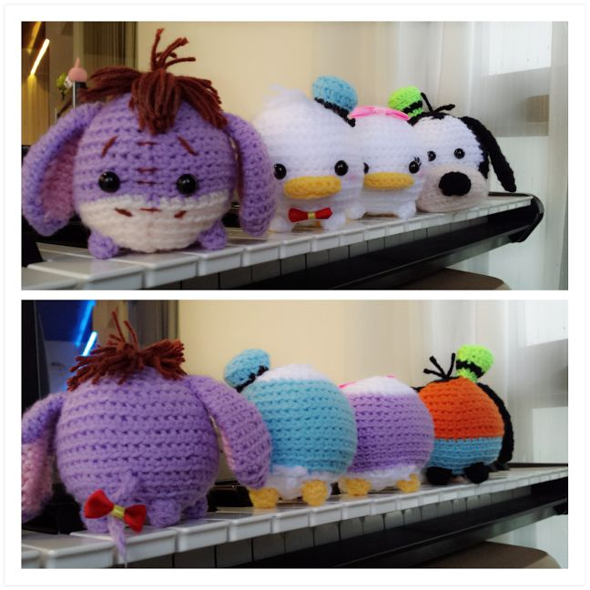 Disney Tsum Tsum amigurumi collection.