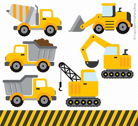 CONSTRUCTION Clipart Printable Instant download