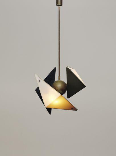 ANGELO LELII ceiling lamp, 1950's