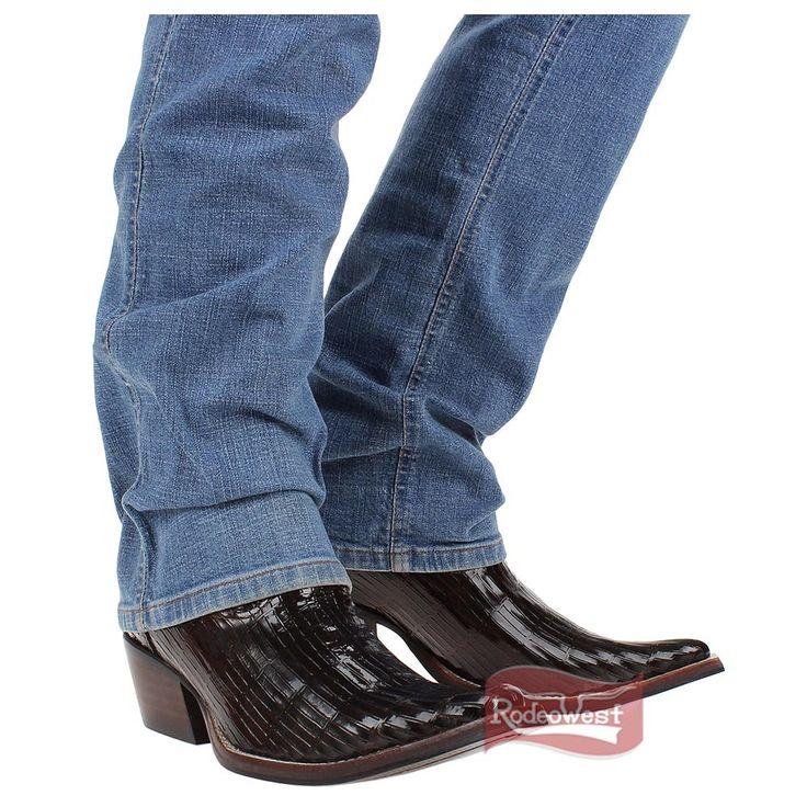 Bota Texana Masculina Bico Fino Pliss 234 Verniz Marrom